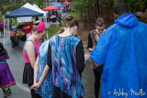 Praying for visitors to the Okra Strut 2015